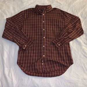 Other - Puritan red and white button down polo size small